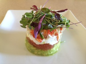 Chilled Lobster Timbale with Avocado, Grapefruit, Lemon Crème & Citrus Butter