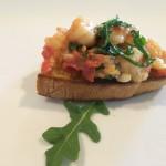 Shrimp, Tarragon & Arugula Bruschetta