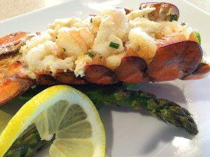 Lobster Stuffed with Shrimp and Crab